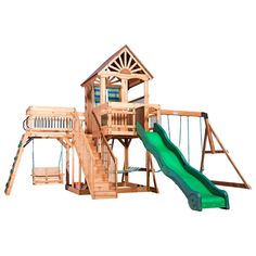 Beachhouse styling & plenty of room make the Caribbean Wooden Swing Set by Backyard Discovery a great choice for your backyard. The clubhouse has a cabana look Sets redo Caribbean Wooden Swing Set