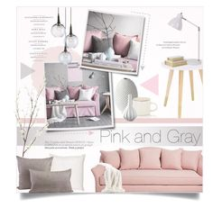 """""""Pink and Gray Home Decor"""" by alexandrazeres ❤ liked on Polyvore featuring interior, interiors, interior design, home, home decor, interior decorating, Currey & Company, Dransfield & Ross, Jayson Home and Ethan Allen"""