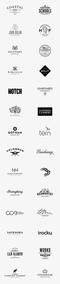 Logos and Logotypes by Bluerock Design #logos