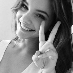 Models love peace signs - Barbara Palvin #BarbaraPalvin #Barbara #Palvin…