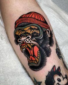 Neo Tattoo, Tatto Old, Type Tattoo, Leg Tattoo Men, Neo Traditional Chest Tattoo, Traditional Tattoo Design, American Traditional Tattoos, Badass Tattoos, Body Art Tattoos