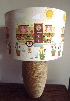 Summer Caravan Decoupage Lampshade summer colour by Fattadamamma