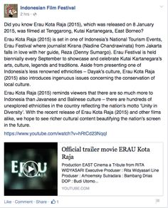 As published on Indonesian Film Festival Australia Facebook page as part of 10th IFF social media campaign. --- Did you know Erau Kota Raja (2015), which was released on 8 January 2015, was filmed ...