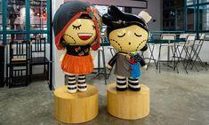 Mascottes au Police Married Quarter de Hong Kong