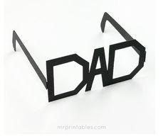Originales gafas para regalar como manualidad para el Dia del Padre - Juntines.com