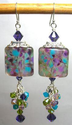 Glitterbug Originals MGA Designs Purple Passion Handmade Lampwork Earrings SRAJD. $24.50, via Etsy.