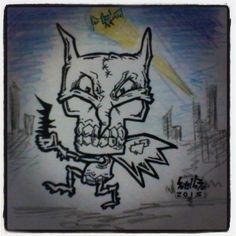 BATISKULLI. #rotulador #marcador #sharpie #creyón.  #batman #ilustración #dibujo #draw #sketch #diseño #design #joker #comic #toon #pop #caricatura #art #arte #artwork #instaart #dc ##marvel #graphic #caracas #Venezuela #soyellobo