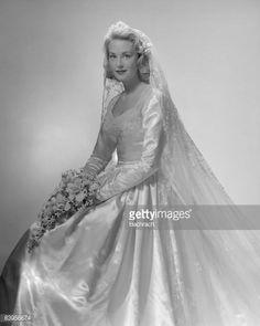 portrait wedding dress 1950 - Google Search