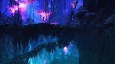 Night On Pandora Avatar Avatar Films, Avatar Movie, Avatar Disney, Fantasy Places, Fantasy World, Fantasy Art, Avatar James Cameron, Avatar Poster, Sci Fi Wallpaper