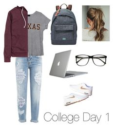"""""""College Day 1"""" by fashion-coma ❤ liked on Polyvore featuring Dsquared2, FOSSIL, Speck, H&M, women's clothing, women, female, woman, misses and juniors"""