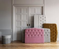 "MELIMELI on Instagram: ""We believe that a beautiful bedroom will improve your sleep. Darling Headboard will help you to accomplish that."" Linen Headboard, Velvet Headboard, Chesterfield Chair, Beautiful Bedrooms, Yin Yang, Betta, Scandinavian Design, Improve Yourself, Accent Chairs"