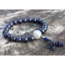 Sandstone, Blue  Wrist Mala