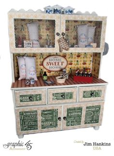 A closer look at the front of this awesome altered hutch and mini album from Jim, The Gentleman Crafter! #graphic45
