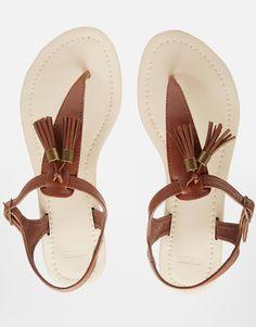 $18ASOS FABIAN Tassel Toe Post Sandals