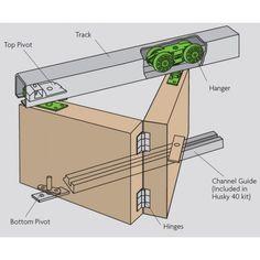 Husky 40 - Folding Door Gear System For Bi-Folding Heavy Weight Internal Doors Up To Thick - April 30 2019 at Gate Design, Door Design, House Design, Pivot Doors, Internal Doors, Timber Door, Door Detail, Door Kits, Interior Barn Doors