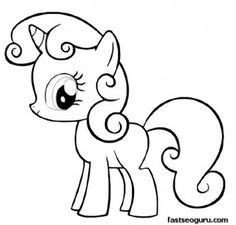 Printable My Little Pony Friendship Is Magic Sweetie Belle coloring pages - Printable Coloring Pages For Kids