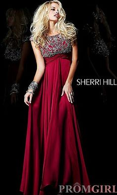 Sherri Hill long red prom dress