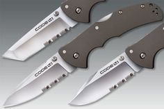 Cold Steel Code 4 Series. If you're looking for a quality pocket knife, than look no further. There are so many different combinations of this knife, that it'll suit your needs for sure.