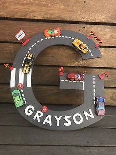 Items similar to Large 16 8243 Boys personalised large car themed letter cars hot wheels nursery decor boys decor boys room boys names on Etsy Nursery Decor Boy, Boy Decor, Boys Room Decor, Boy Car Room, Baby Boy Rooms, Race Car Room, Kids Bedroom Boys, Kids Room, Car Bedroom Ideas For Boys