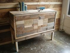 recycled timber cabinet