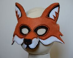 Hide the grapes and the chickens! Theres a new Fox in town! A felt mask with hand embroidered details makes a very clever Fox! This Printable PDF