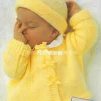 Baby Easy Coat & Hat Knitting Pattern