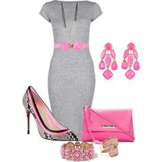 Grey and pink...I REALLY love this!!  :)