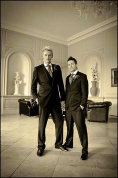 Gay wedding. Posted from Rock N' Roll Bride.