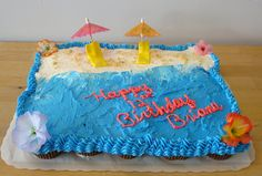 Beach Party Cupcake Cake