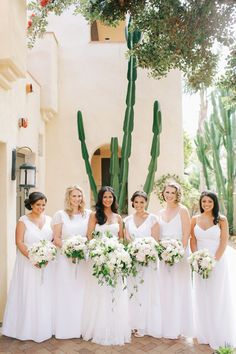 Bridemaids wedding portrait / Terranea Resort wedding