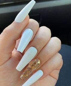 How to choose your fake nails? - My Nails Cute Acrylic Nail Designs, Simple Acrylic Nails, Summer Acrylic Nails, Best Acrylic Nails, Simple Nails, Summer Nails, Acrylic Nail Designs Coffin, Long Nail Designs, Pastel Nails