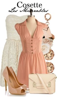 Cosette from Les Miserables inspired outfit from The Broadway Wardrobe Broadway Outfit, Broadway Costumes, Sound Of Music, Theatre Outfit, Fandom Outfits, Nerd Outfits, Character Inspired Outfits, Fandom Fashion, Casual Cosplay