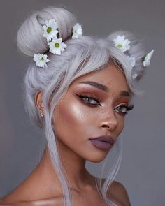 41 brilliant ways to wear gray and silver hair color, ., 41 brilliant ways to wear gray and silver hair color color If you feel that brunettes are usually more satisfied together with lifetime when compared with blondes,. Nyane Lebajoa, Makeup Tumblr, Natural Hair Styles, Long Hair Styles, Maquillage Halloween, Hair Inspo, Pretty Hairstyles, Style Hairstyle, Pretty People