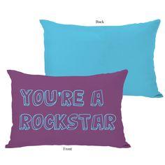 You're a Rockstar Lumbar Pillow