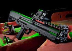 KEL-TEC KSG Shotgun. Pump shotgun with power.