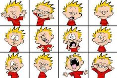 Could use this in a Show Don't Tell lesson on broad adjectives (e. verb phrases (e. beat his chest) And I love Calvin and Hobbes Calvin And Hobbes Comics, Calvin And Hobbes Snowmen, Calvin And Hobbes Wallpaper, 4 Image, Social Thinking, Les Sentiments, Humor Grafico, Fun Comics, Facial Expressions
