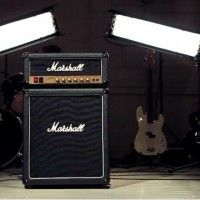 The coolest way of keeping it cool: The Marshall fridge.