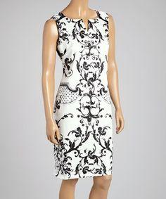 Black Flourish Sleeveless Dress - Women