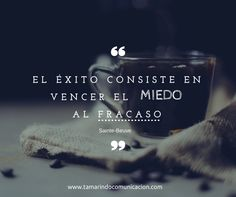 El éxito consiste en vencer el miedo al fracaso (Sainte-Beuve) #quotes #frases #emprendedores #pymes #marketing #frasescélebres