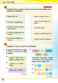 2. Sınıf Soru Bankası Türkçe Süper Kitap Turkish Lessons, English Verbs, Kids And Parenting, Worksheets, Exercise, Education, Books, Turkish Language, Ejercicio