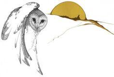 landscape, as inspired by peter parnall Animal Art, Haida Art, Wolf Sculpture, Illustration Art, Art, Wolf Face, Owl Art, Ink Illustrations, Bird Art