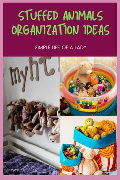 Stuffed animals are so cute lovely! But let's admit it - they still need to be organized. So here are awesome ideas! Storing Stuffed Animals, Big Stuffed Animal, Stuffed Animal Storage, Bedroom Organization Diy, Playroom Organization, Diy Storage, Storage Ideas, Toy Hammock, Big Pillows