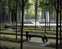 The interior courtyard at 50 Avenue Montaigne, Paris, France - Michael Van Valkenburgh Associates, Inc.
