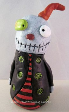 OOAK Whimsical Halloween Zimple Sculpture - Free Shipping