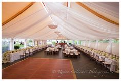draped tent wedding at Castle Hill by Couture Parties