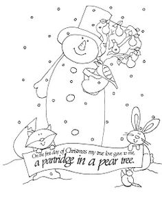 Free Dearie Dolls Digi Stamps: On the First Day of Christmas......