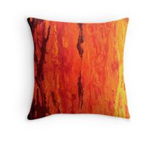 Abstract Fire Drip Painting Throw Pillow  Available now on RedBubble