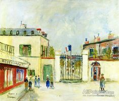 Maurice Utrillo Barracks At Compiegne, Oise oil painting reproductions for sale