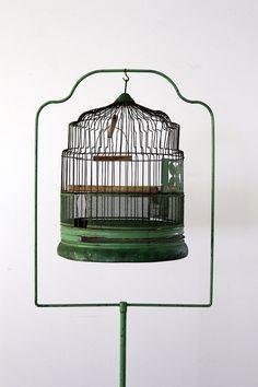 Antique 1920's bird cage :]
