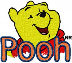 Winnie Pooh Logo 2  free machine embroidery design